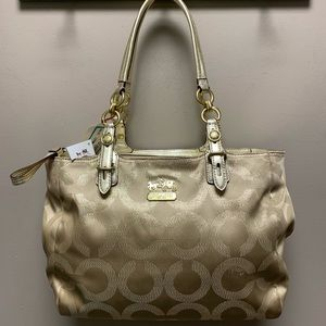 Coach Mia Lurex Tote - new with tags